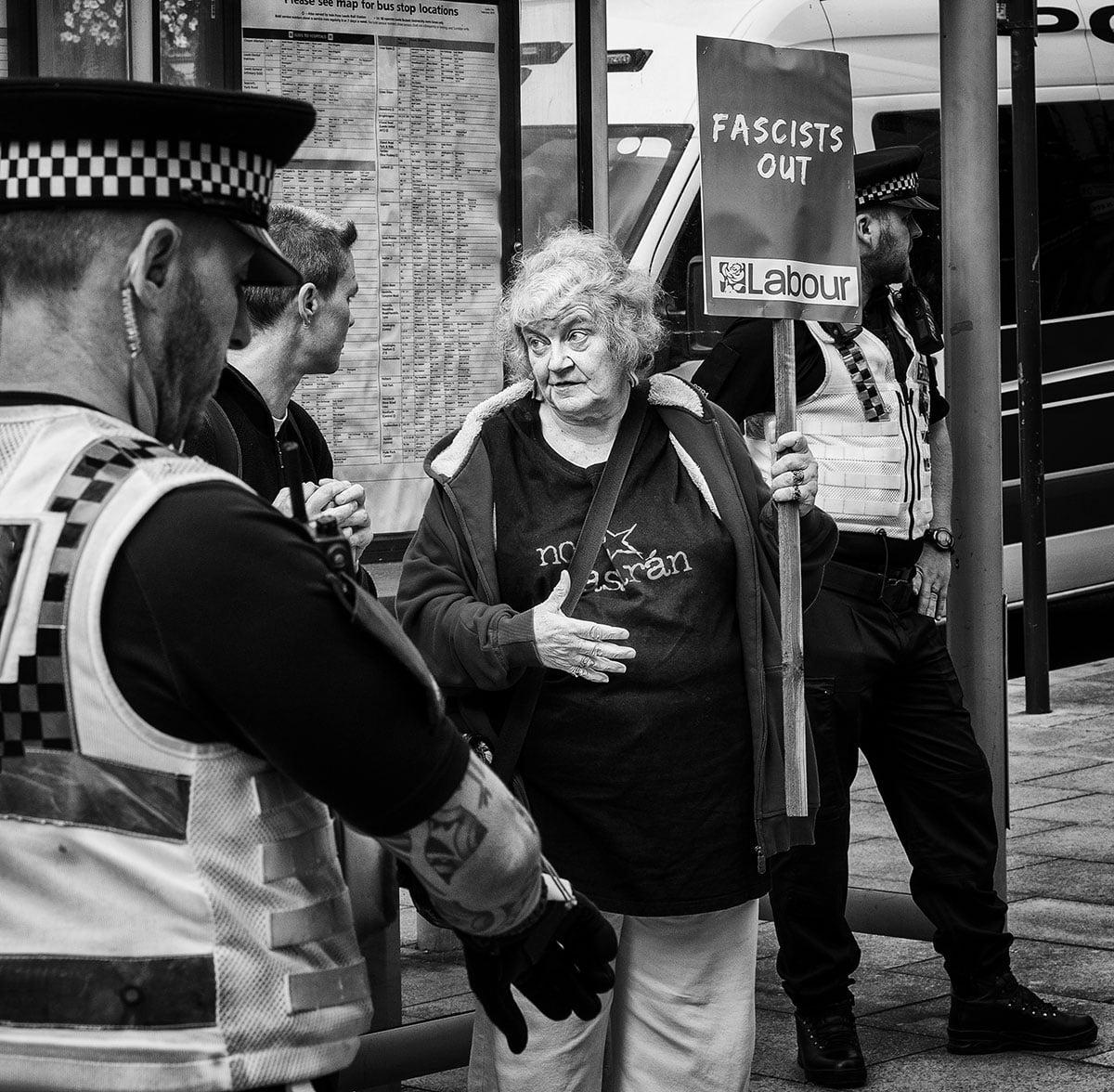 Far right demo in Leeds 7th September