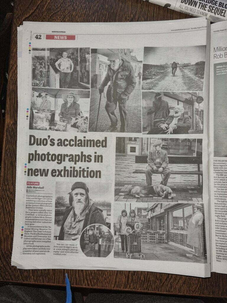 Newspaper article John and Bridget Gill photo exhibition
